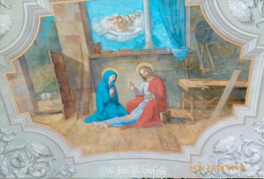 Decken- Malerei im Kreuzgang, Tod des hl. Josef