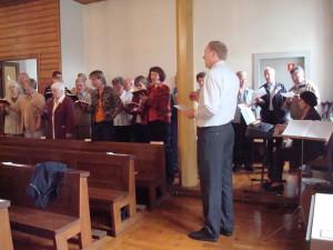 Der Kirchenchor singt in Stolpen