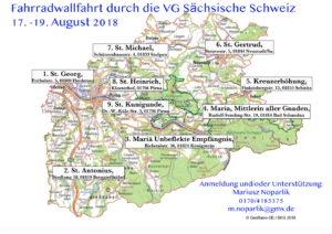 """Fahrradwallfahrt Verantwortungsgemeinschaft """"Sächsische Schweiz"""""""